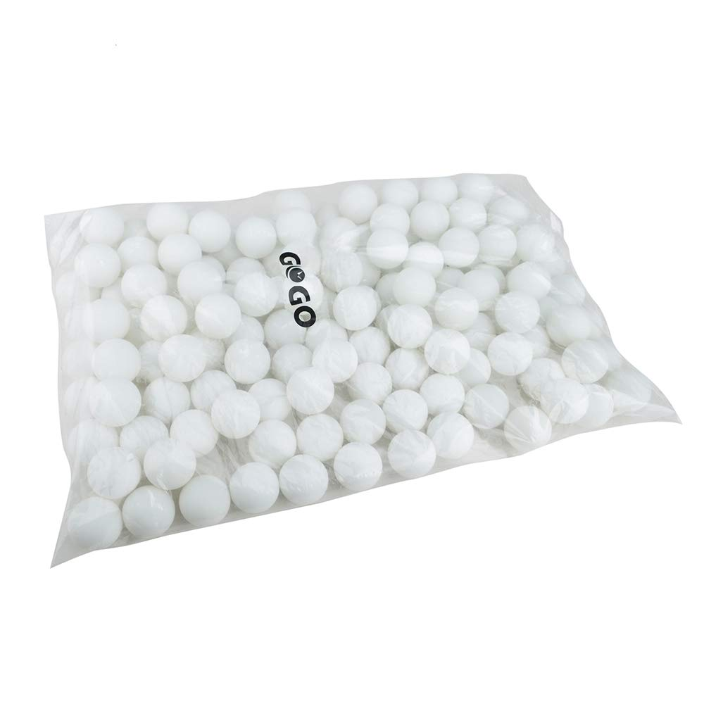 GOGO Pack of 144 Table Tennis Balls 40mm Ping Pong Balls Beer Pong Balls-Orange
