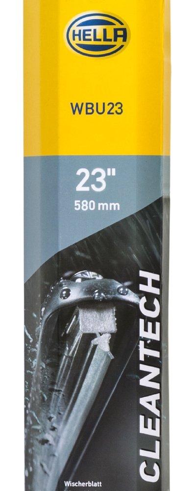 Linkslenker vorne PKW mit Multiadapter 13/'/' robust und aerodynamisch HELLA 9XW 358 053-141 CLEANTECH Scheibenwischer WBU 14 EasyChange Flachbalkenwischblatt gelenklos nano Gummilippe 340 mm