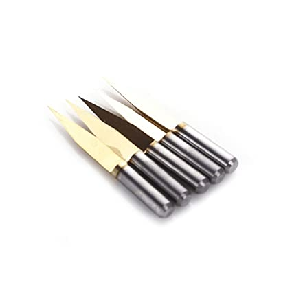 5pcs Carbide PCB Engraving Bits CNC Router Tool 20 Degree 20° 0.3mm