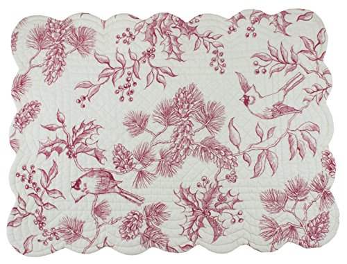 C&F Home Evergreen Toile Quilted Single Rectangular Cotton Quilted Placemat Rectangular Placemat ()