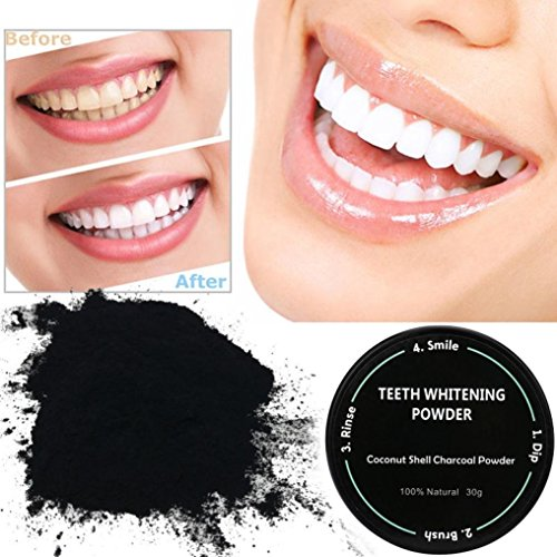 IGEMY Teeth Whitening Powder Natural Organic Activated Charcoal Bamboo Toothpaste (Black)