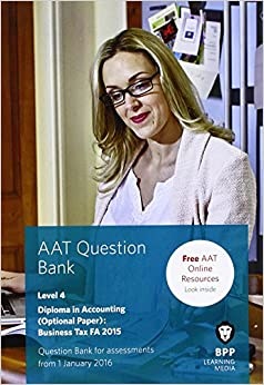 AAT Business Tax FA2015: Question Bank