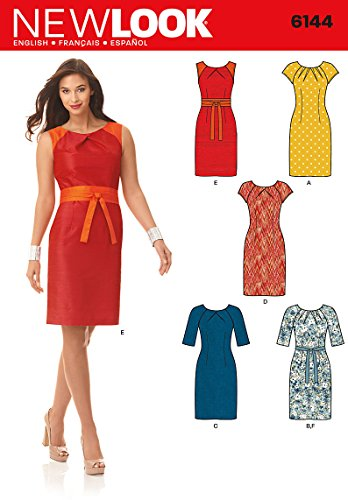 Simplicity Creative Patterns New Look 6144 Misses' Dress and Belt, A (8-10-12-14-16-18)
