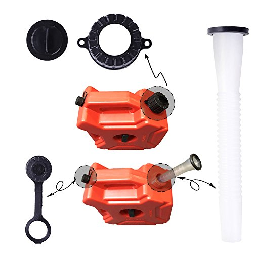 YOUNGFLY Gas Can Spout Old Style Universal Gasoline Tank Pour Spout Replacement Kit for Fuel Container 2.5 gal 5 10 Gallon Any Capacity Use (6 set) by YOUNGFLY (Image #1)