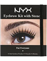 NYX Professional Makeup Eyebrow Kit Set With Stencil...