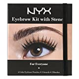 NYX Professional Makeup Eyebrow Kit Set With Stencil, 0.7 Oz