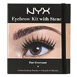 NYX Cosmetics Eyebrow Kit Set With Stencil, 0.7 Oz