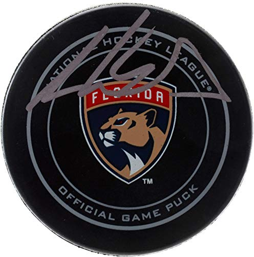 Aaron Ekblad Florida Panthers Autographed Official Game Puck - Fanatics Authentic Certified - Autographed NHL -
