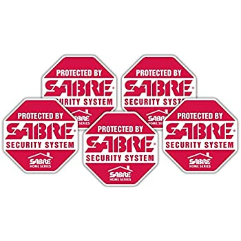 Five 5 Home Security Window Door Decal Stickers
