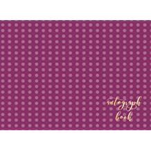 """Autograph Book: Purple Spots Blank Unlined Scrapbook Keepsake For All Your Favorite Stars & Characters. Memorabilia Album Gift 