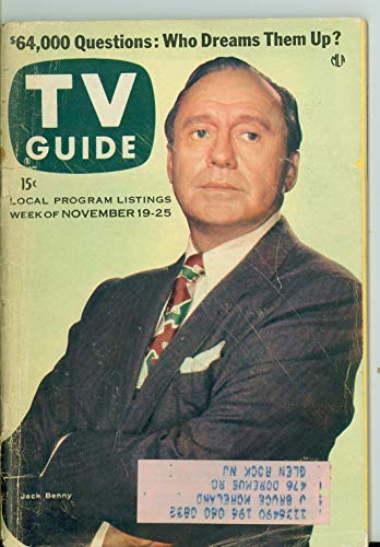 1955 TV Guide Nov 19 Jack Benny - NY Metro Edition Very Good (3 out of 10) Well Used by Mickeys Pubs