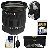 Sigma 17-50mm f/2.8 EX DC OS HSM Zoom Lens with Backpack Case + 3 Filters Kit for Nikon D3200, D3300, D5300, D5500, D7100, D7200, D610, D750, D810, D4s Camera