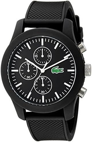 Lacoste Men's 2010821 12.12 Analog Display Japanese Quartz Black Watch 1