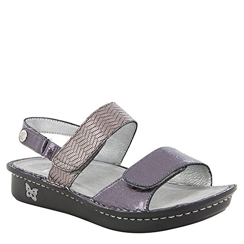 (Alegria Verona Womens Sandal Braided Pewter 10 M US)