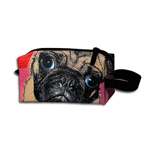 Makeup Cosmetic Bag Dog Pop Art Zip Travel Portable Storage Pouch For Men Women