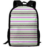 Stylish Laptop Backpack Fizz N' Bubble Stripes CW In Mint Green And Lave Brand School Backpack Bookbags College Bags Daypack