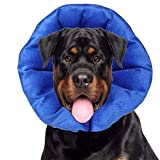 LUCKUP Dog Recovery Collars & Cones Soft Pet Recovery Collar with Removable Stays