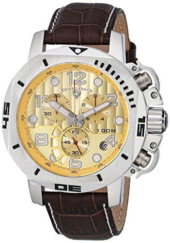 Swiss Legend Men's 10538-010 Scubador Chronograph Brown L...