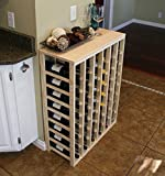 Creekside 48 Bottle Table Wine Rack (Pine) by Creekside - Exclusive 12 inch deep design conceals entire wine bottles. Hand-sanded to perfection!, Pine