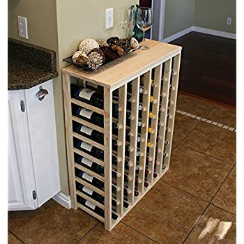 this item creekside 48 bottle table wine rack pine by creekside exclusive 12 inch deep design conceals entire wine bottles handsanded to perfection - Wine Rack Table