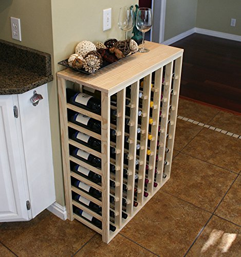(Creekside 48 Bottle Table Wine Rack (Pine) by Creekside - Exclusive 12 inch deep design conceals entire wine bottles. Hand-sanded to perfection!, Pine)