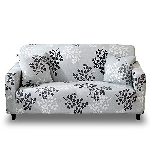 HOTNIU Stretch Sofa Slipcover 1-Piece Polyester Spandex Fabric Couch Cover Chair Loveseat Furniture Protector Covers 1/2/3/4/ Seat Sofas (Loveseat, Printed #3)