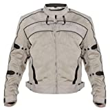 Xelement CF378 Igniter Mens Silver Armored Tri-Tex Jacket - Large