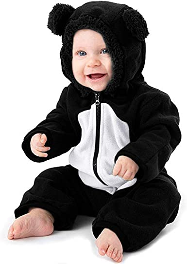 Kids Girls Boys Hooded Jumpsuit Zipper Party Fancy Dress Long Sleeve Clothes Set