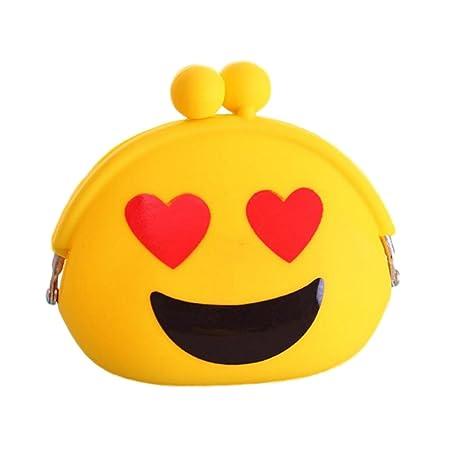 Leuchtbox Leuchtbox Silikon Geldbörse Emojis - Cartera Niños, Gelb (Liebe) (amarillo)