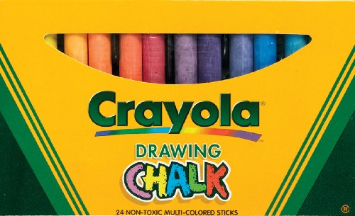 Binney & Smith Crayola(R) Drawing Chalk, Assorted Colors, Box Of (Assorted Chalk)