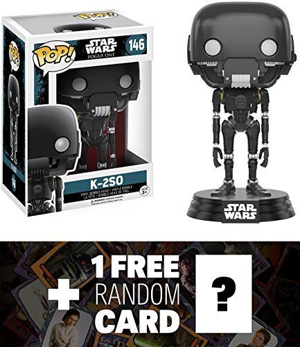 K 2So  Funko Pop  X Star Wars Rogue One Vinyl Bobble Head Figure W  Stand   1 Free Official Star Wars Trading Card Bundle  104548