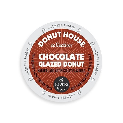 Donut House Collection Coffee, Chocolate Glazed Donut, K-Cup Portion Count for Keurig K-Cup Brewers, 24-Count - Perfect Cup Chocolate Coffee