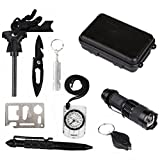 ROGERRAY Outdoor Survival Tools Emergency Survival Kits 10 in 1, Multi ...