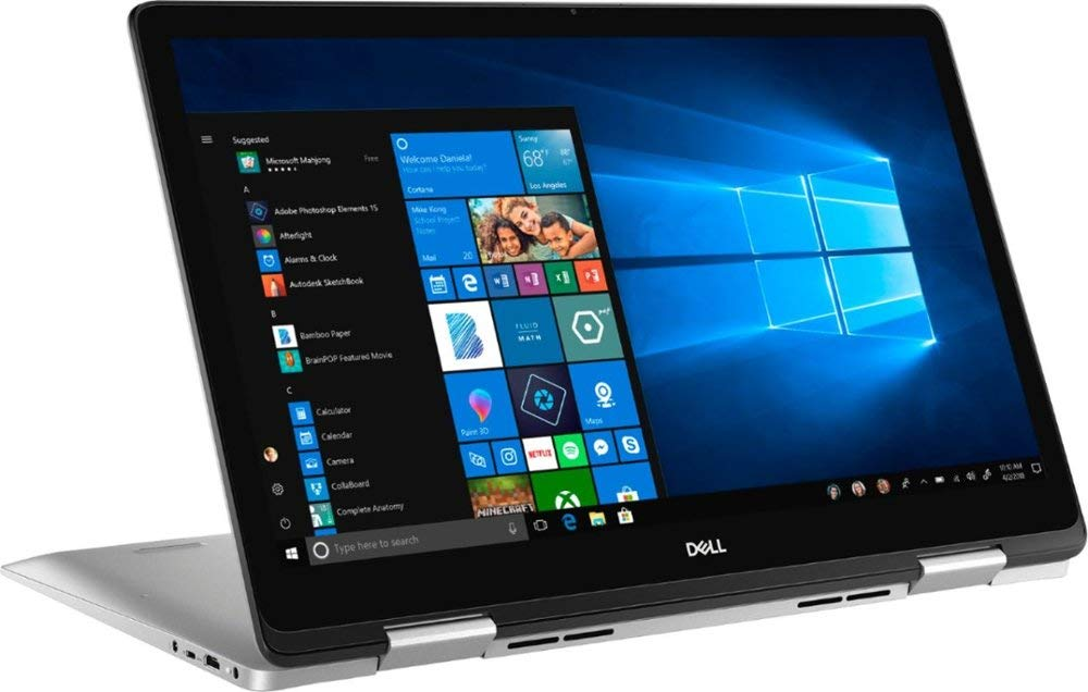 "Dell Inspiron 7000 2-in-1 17.3"" IPS FHD Touch-Screen Laptop, Intel Core i7-8565U, 16GB DDR4, 1TB HDD, NVIDIA GeForce MX150, Backlit Keyboard, Fingerprint Reader, WiFi, USB 3.1 Type C, HDMI, Windows 10"