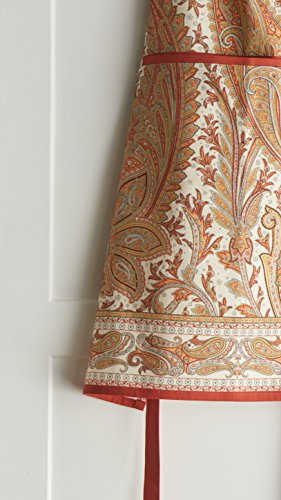 Maison d' Hermine Kashmir Paisley 100% Cotton Apron with an adjustable neck & hidden center pocket, 27.50 - inch by 31.50 - inch by Maison d' Hermine (Image #3)