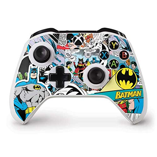 Skinit Batman Comic Book Xbox One S Controller Skin - Officially Licensed Warner Bros Gaming Decal - Ultra Thin, Lightweight Vinyl Decal Protection