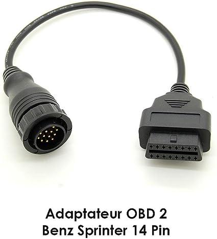 Cavo Adattatore diagnostico OBD2 da 14 Pin a 16 Pin per Mercedes Benz Sprinter Senoow