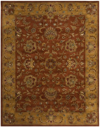 Safavieh Runner Rug in Natural and Red - Colors and patterns may vary as they are made in bulks and they are not one set design Traditional style Hand tufted - runner-rugs, entryway-furniture-decor, entryway-laundry-room - 51b4rvzkuWL -