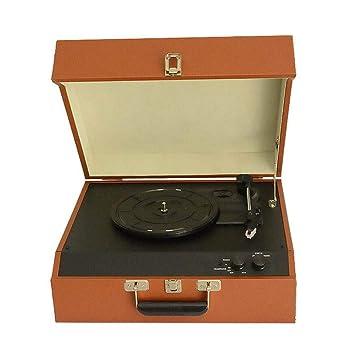 LVSSY-Tocadiscos de Vinilo Vintage,Giradiscos Plato Vinilo de 3 ...