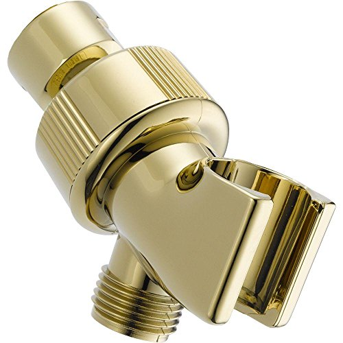 Delta Faucet U3401-PB-PK Adjustable Shower Arm Mount, Polished Brass (Showerhead Brass Polished Handheld)