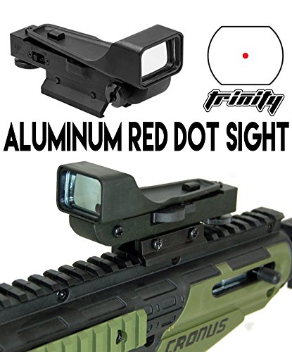 Aluminum Reflex Red Dot Sight fits US ARMY ALPHA BLACK ELITE paintball marker accessories. (Alpha Accessories Black)