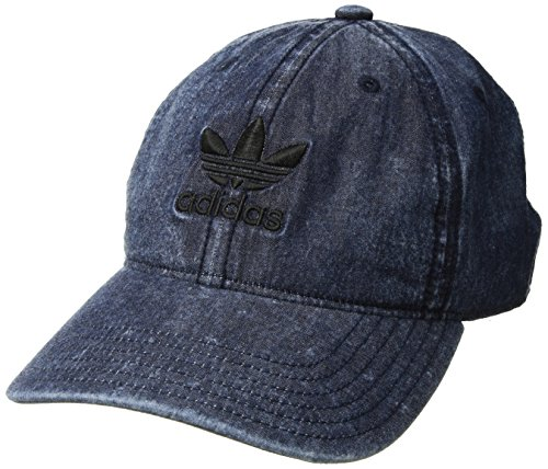 adidas Men's Originals Relaxed Strapback Cap, Blue/Black, One Size]()