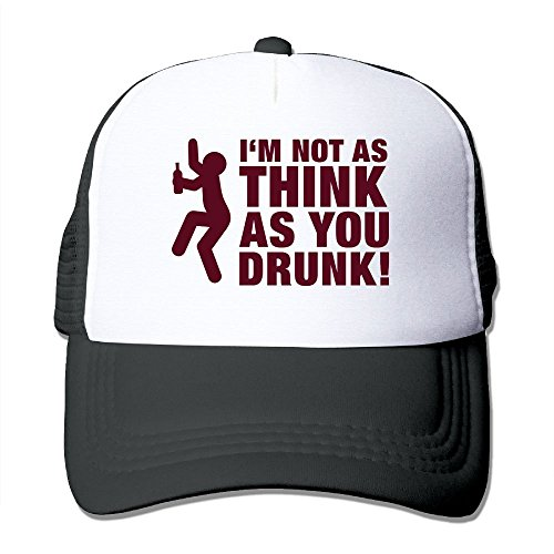 Jia De Ba Funny Im Not As Think You Drunk F1 Farewell HatBirthday HatParty Hat Adult Trucker Cap Baseball Dad Mesh Black