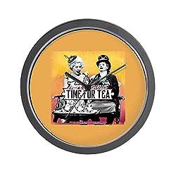 CafePress I Love Lucy: Time for Tea Unique Decorative 10 Wall Clock