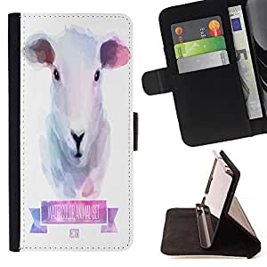 Dragon Case - FOR Sony Xperia Z2 D6502 - My little sheep - Caja de la carpeta del caso en folio de cuero del tir¨®n de la cubierta protectora Shell