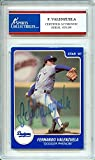 Fernando Valenzuela 1987 Star Los Angeles Dodgers Autographed Trading Card - Certified Authentic