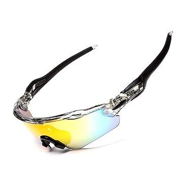 FRFG Montar Gafas de Sol al Aire Libre Gafas polarizadas Movimiento Ocular Deportes miopía Bicicleta de