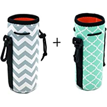 Orchidtent Protable Neoprene Insulated Water Drink Bottle Cooler Carrier Cover Sleeve Tote Bag Pouch Holder Strap for Kid Children Women MEN Biker Travel Cycling Climbing Sports