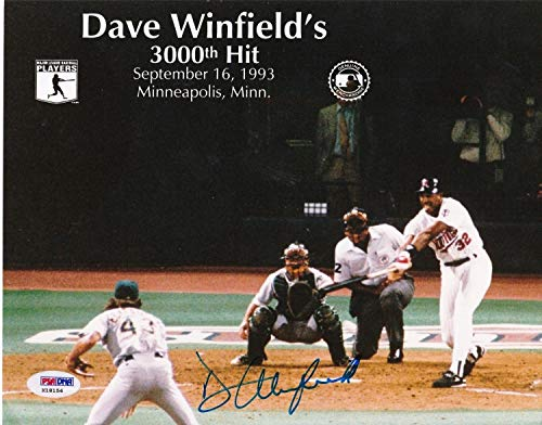 Dave Winfield Minnesota Twins 3000 Hit PSA/DNA Authenticated Autographed Signed 8x10 Photo