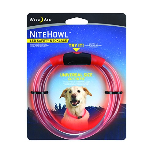 Nite Ize NiteHowl LED Dog Light Collar Safety Necklace - Red